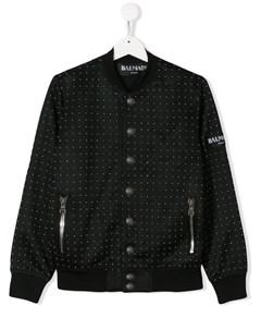 пиджак на пуговицах с принтом Balmain kids