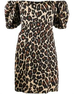 Платье мини с леопардовым принтом De la vali