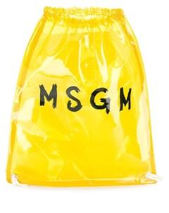 прозрачный рюкзак с логотипом Msgm