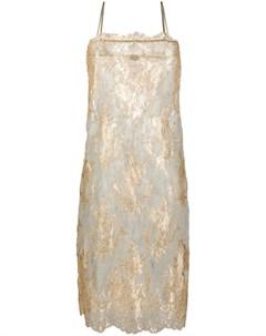 Платье комбинация с эффектом металлик Dolci follie