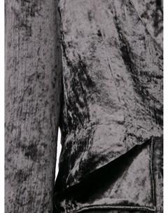 Однобортный бархатный блейзер Sulvam