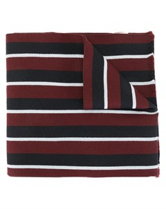 Полосатый шарф с нашивкой логотипом Kent & curwen