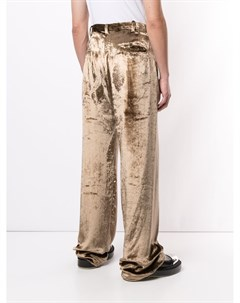 Бархатные брюки свободного кроя Sulvam