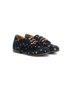 Слиперы на шнуровке с принтом Pèpè