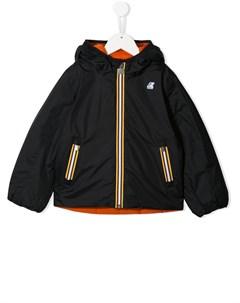 пальто с капюшоном и логотипом K way kids