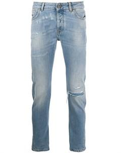 Прямые джинсы с эффектом потертости John richmond