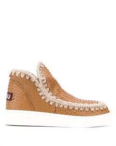 Фактурные ботинки Mou