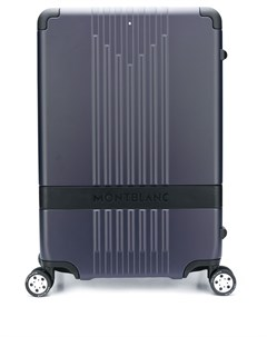 чемодан с тисненым логотипом Montblanc