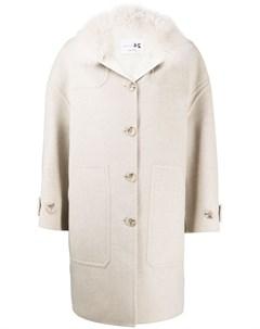 Однобортное пальто оверсайз Manzoni 24