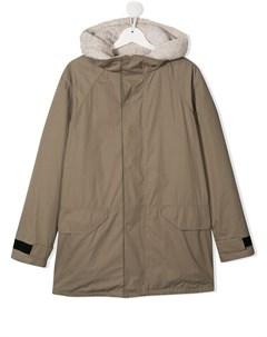 пальто с капюшоном и подкладкой Yves salomon enfant