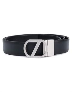 ремень с металлическим логотипом Z zegna