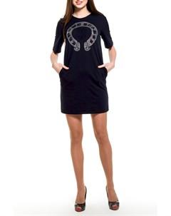 Короткое платье с отделкой стразы Majaly