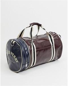 Бордовая сумка в стиле колор блок Fred perry