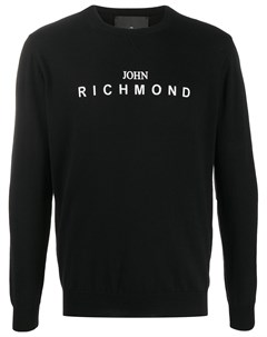 пуловер с круглым вырезом и логотипом John richmond
