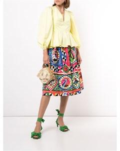 Плиссированная юбка с принтом Stella jean