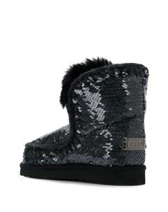 Ботинки Eskimo с пайетками Mou