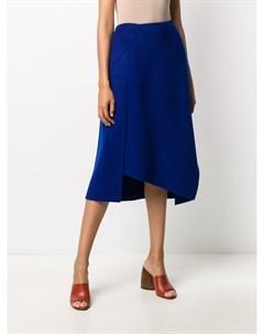 Трикотажная юбка с асимметричным подолом Odeeh