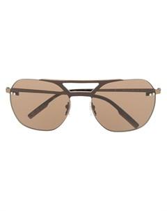 солнцезащитные очки в массивной оправе Ermenegildo zegna