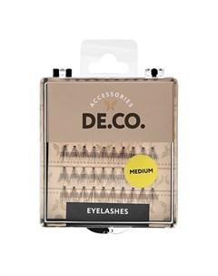 Пучки ресниц с плоским основанием medium Deco