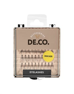 Пучки ресниц с плоским основанием mix size Deco
