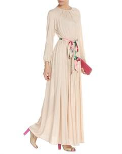 Однотонное платье с цветным поясом NATALIA PICARIELLO Natalia picariello