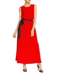 Платье без рукавов с поясом Kristina