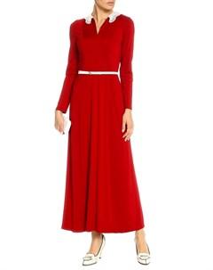 Платье с отложным воротником и поясом Kristina