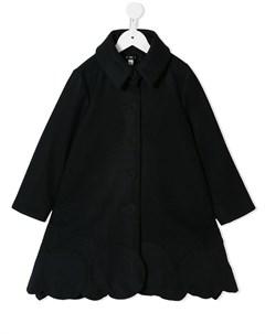пальто с декорированным подолом Owa yurika
