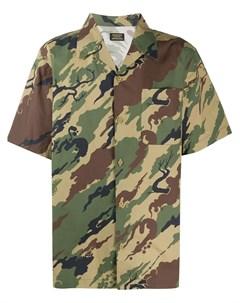 Рубашка с камуфляжным принтом Maharishi