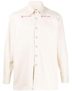 Рубашка оверсайз с нашивками Raf simons