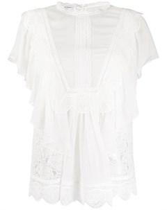 Блузка с кружевом Alberta ferretti