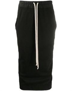 Облегающая юбка миди Rick owens drkshdw