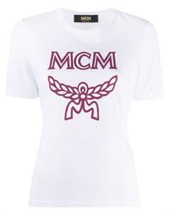 Футболка с логотипом Mcm
