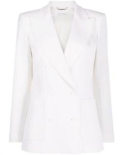 Двубортный приталенный пиджак Alberta ferretti