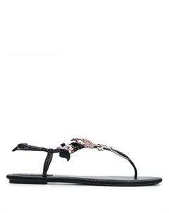 Декорированные сандалии с Т образным ремешком Rene caovilla