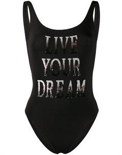 Купальник с надписью Live Your Dream Alberta ferretti