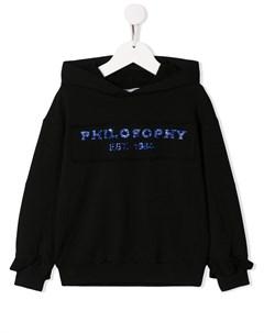 худи с декорированным логотипом Philosophy di lorenzo serafini kids