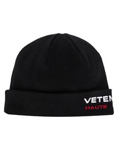 Шапка бини с вышитым логотипом Vetements