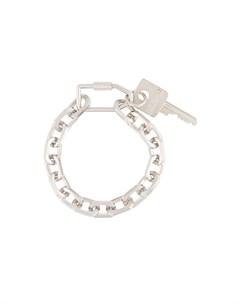 Цепочный браслет с подвеской в виде ключа Off-white