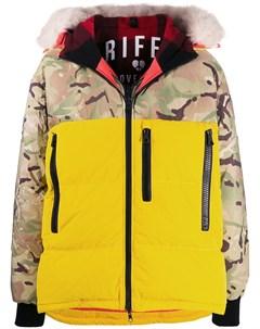 Дутая куртка с камуфляжным принтом Griffin