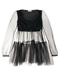 Полупрозрачная блузка Hannah с баской Molly goddard