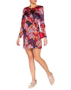 Короткое яркое платье с длинным рукавом JUICY СOUTURE Juicy сouture