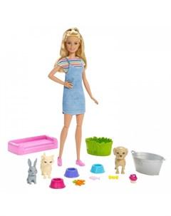 Набор игровой Кукла и домашние питомцы Barbie