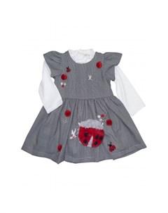 Комплект для девочки сарафан лонгслив сумка 3232 Baby rose