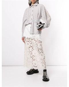 Кружевная юбка макси Maison mihara yasuhiro