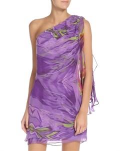 Платье полуприлегающее с отделкой из бисера Js collections