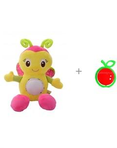Развивающая игрушка Музыкальная бабочка и Погремушка Яблоко Forest