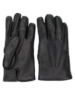 однотонные перчатки Ermenegildo zegna