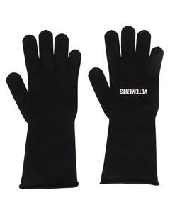 Трикотажные перчатки с логотипом Vetements