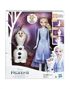 Интерактивная игрушка Холодное сердце 2 Эльза и Олаф Hasbro
